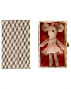 Мягкая игрушка Мышка младшая сестра Балерина с кушеткой Maileg