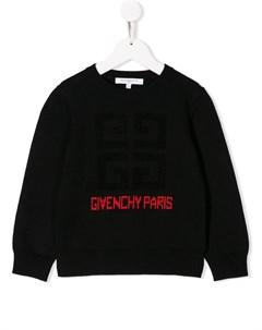 Трикотажный джемпер с логотипом Givenchy kids