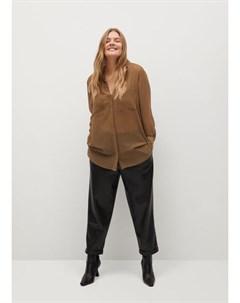 Струящаяся блузка с принтом Cristal Mango