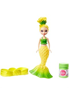 Mattel barbie dvm99 барби маленькие русалочки с пузырьками модная Mattel barbie