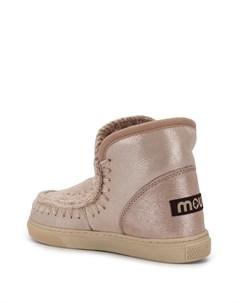 Ботинки с вязаной окантовкой Mou