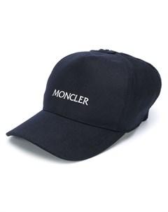 Кепка с вязаной вставкой и логотипом Moncler