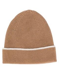 Кашемировая шапка бини в рубчик Eleventy