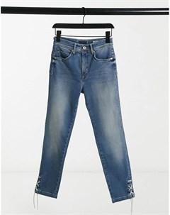 Стильные моделирующие джинсы с завышенной талией Salsa