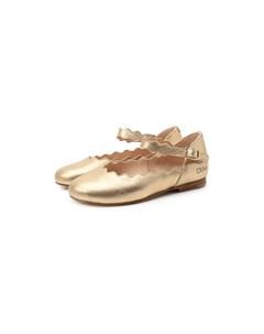 Кожаные балетки Chloe