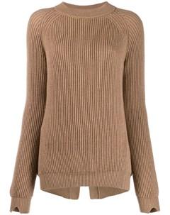 Трикотажный свитер в рубчик Stefano mortari