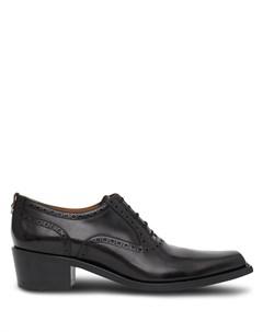 Броги на блочном каблуке с квадратным носком Burberry
