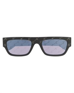Солнцезащитные очки в прямоугольной оправе с логотипом Stella mccartney eyewear