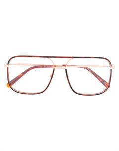 Очки в массивной оправе черепаховой расцветки Stella mccartney eyewear