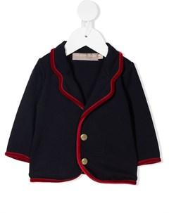 Пиджак с бархатной окантовкой La stupenderia