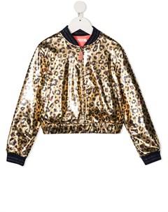Бомбер с леопардовым принтом Billieblush