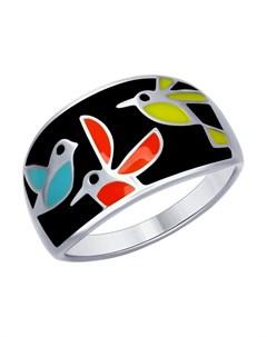 Кольцо из серебра с эмалью Sokolov