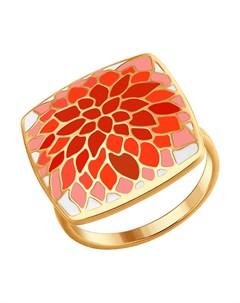 Кольцо из золочёного серебра с эмалью Sokolov