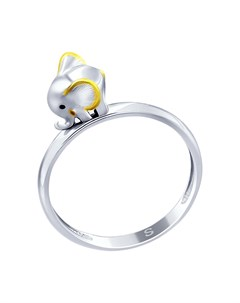 Кольцо из серебра Слонёнок Sokolov
