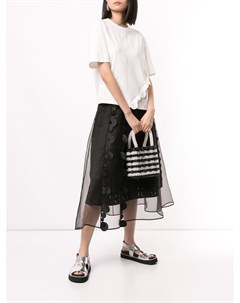 Расклешенная юбка с прозрачной вставкой Paskal