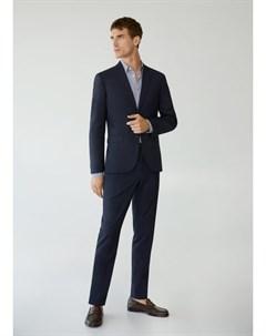Костюмные брюки super slim fit с мелкой фактурной выделкой Paulo Mango