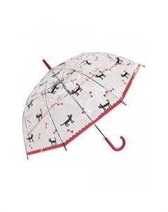 Зонт трость Кошки прозрачный купол Mihi mihi