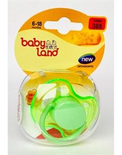 Соска пустышка 2 размер силиконовая ортодонтическая 6 цвета в ассорт Baby land