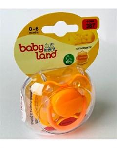 Соска пустышка 1 размер силиконовая ортодонтическая 0 цвета в ассорт Baby land