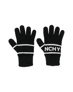 Перчатки с вышитым логотипом Givenchy kids