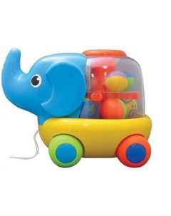 Каталка игрушка Слоник на веревочке Умка