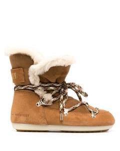 Ботинки на шнуровке с подкладкой из овчины Moon boot