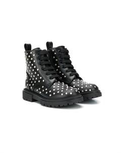 Ботинки на шнуровке с заклепками Ermanno scervino junior