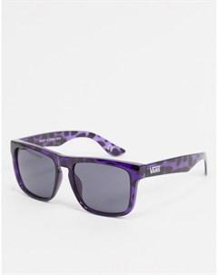 Синие солнцезащитные очки в квадратной оправе Vans
