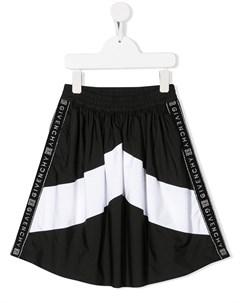 Юбка миди с логотипом Givenchy kids