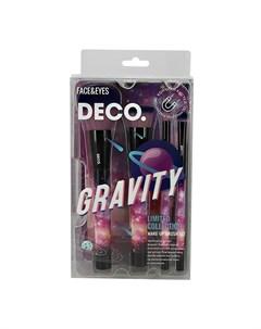 Набор кистей для макияжа GRAVITY в чехле 4 шт Deco