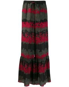 Расклешенные брюки с цветочным принтом Red valentino