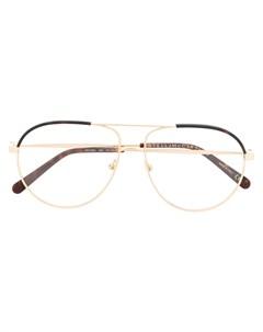 Двухцветные очки авиаторы Stella mccartney eyewear