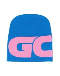 Шапка бини в стиле колор блок с логотипом Gcds kids