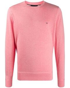 Пуловер с вышитым логотипом Tommy hilfiger
