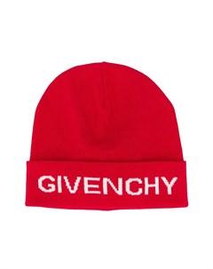 Вязаная шапка бини с логотипом Givenchy kids