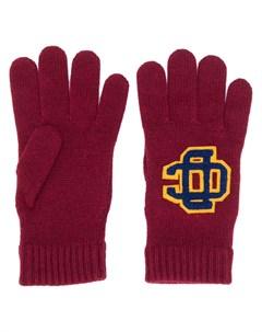 Перчатки с нашивкой логотипом Dsquared2