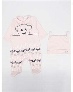 Пижама с логотипом Emporio armani kids