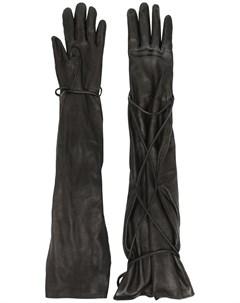 Перчатки с завязками Vejas