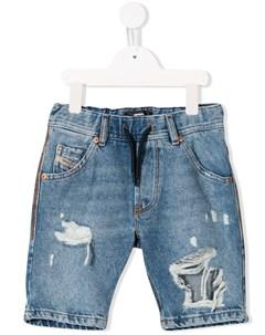Джинсовые шорты с прорезями Diesel kids
