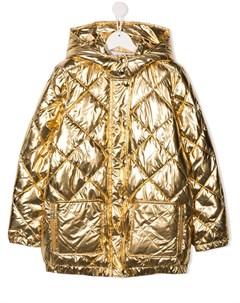 Стеганое пальто с эффектом металлик Sonia rykiel