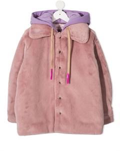 Куртка с капюшоном и искусственным мехом Natasha zinko kids