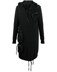 Пальто с капюшоном и карманами Army of me