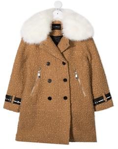Пальто с воротником из искусственного меха John richmond junior