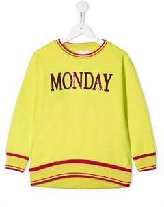 Толстовка Monday с пайетками Alberta ferretti kids