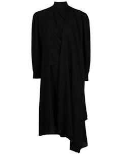 Платье миди с драпировкой и длинными рукавами Juun.j