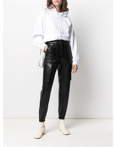 Зауженные брюки из искусственной кожи Juun.j
