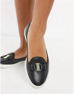 Черные кожаные лоферы Mia Fiorelli