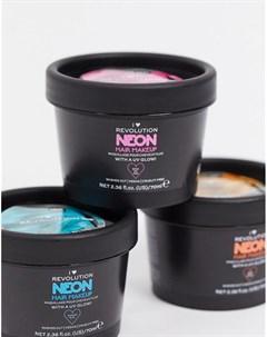 Светящаяся в ультрафиолете неоново розовая краска для волос I Heart Revolution I heart revolution