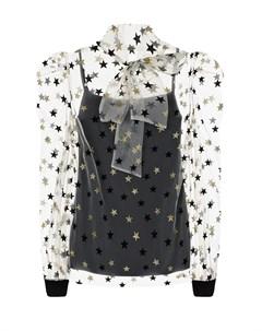 Черная блузка для беременных с декором звезды Dan maralex