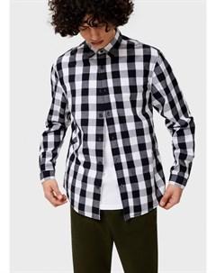Рубашка в клетку из поплина Ostin